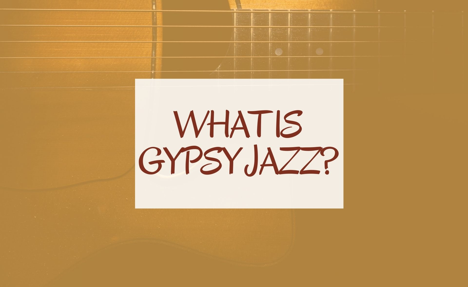 What is gypsy Jazz?